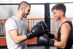 Бой боксеров в sparring Стоковые Фото