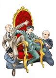 Бой властей иллюстрация штока