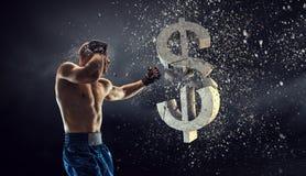 Бой для тарифа валюты Стоковая Фотография