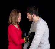 Бой женщины и человека Стоковые Фотографии RF