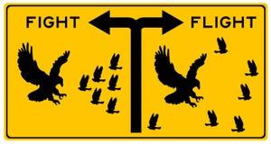 Бой или полет иллюстрация вектора