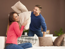 Бой подушками Стоковые Изображения