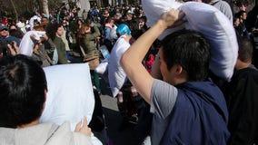 Бой подушками 18 2014 NYC Стоковое фото RF