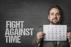 Бой против текста времени стоковое фото