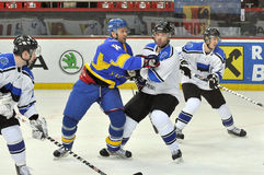 Бой хоккеистов Стоковые Фото