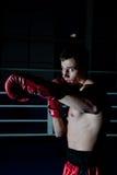 Бой человека на кольце Стоковая Фотография