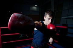 Бой человека на кольце Стоковые Фотографии RF