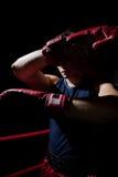 Бой человека на кольце Стоковое Фото