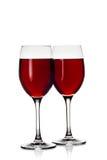 2 бокала с красным вином Стоковая Фотография