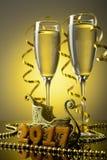 2 бокала с шампанским Стоковые Фото