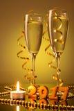 2 бокала с шампанским Стоковое Изображение RF