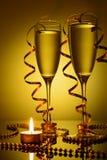 2 бокала с шампанским Стоковые Фотографии RF