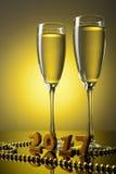 2 бокала с шампанским Стоковая Фотография RF