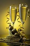 2 бокала с шампанским Стоковые Изображения
