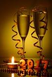 2 бокала с шампанским Стоковое Фото