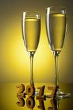2 бокала с шампанским Стоковые Изображения RF