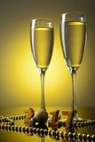 2 бокала с шампанским Стоковое фото RF