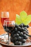 Бокал и виноградины Стоковое Изображение RF