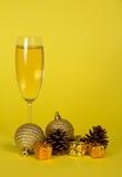 Бокал Шампани, малые подарочные коробки Стоковое Изображение RF