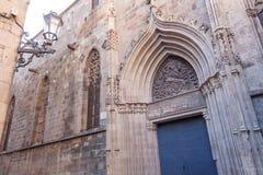 Боковая дверь собора святых креста и Святого Eulalia Стоковые Фотографии RF