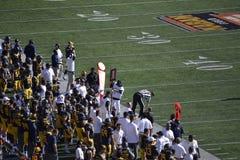 Боковая линия футбола Cal стоковое фото