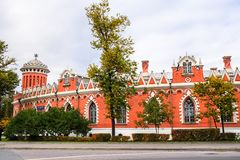 Боковое полукруглое дополнение дворца Petroff, Москвы, России Стоковое Изображение RF