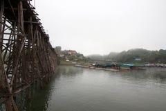 Боковой мост деревянный Стоковое Изображение RF