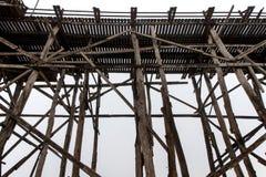 Боковой мост деревянный Стоковые Изображения RF