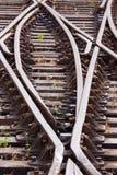 боковые линии рельса Стоковая Фотография RF
