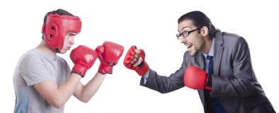 2 боксера изолированного на белизне Стоковые Изображения