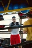 2 боксера на тренировке Стоковая Фотография