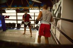 2 боксера на тренировке Стоковые Изображения