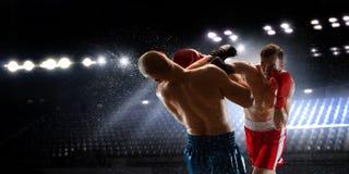 боксеры воюя иллюстрацию 2 пожара Мультимедиа Стоковое Изображение RF