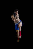 Боксер выполняя позицию бокса стоковое изображение rf