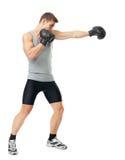 Боксер делая пунш стоковое изображение