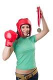 Боксер женщины Стоковые Фото