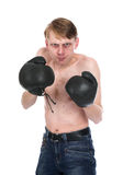боксер смешоной Стоковые Изображения