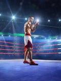 Боксер Professionl стоит на кольце Стоковое Фото