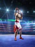 Боксер Professionl стоит на кольце Стоковые Изображения