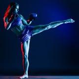 Бокс боксера женщины стоковые изображения