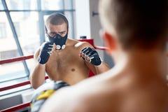 Бокс в маске выносливости Стоковая Фотография RF