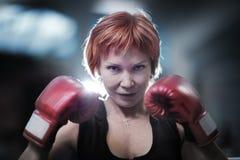 Бокс женщины Стоковое Изображение RF