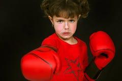 Бокс маленькой девочки Стоковые Фотографии RF
