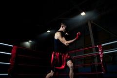 Бокс человека в гимнастике Стоковое Изображение RF