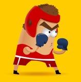 Бокс дилетанта на тренировке Стоковое Изображение