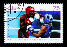 Бокс, serie 1999 Все-американское игр, около 1999 Стоковое фото RF