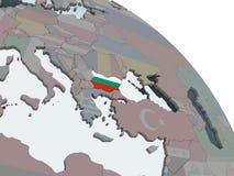Болгария с флагом на глобусе бесплатная иллюстрация