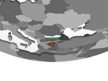 Болгария с флагом на глобусе иллюстрация штока