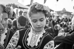 Болгарские фольклорные танцоры на день ` s национального суверенитета и детей - Турция Стоковые Изображения RF