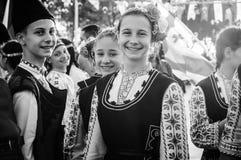Болгарские фольклорные танцоры на день ` s национального суверенитета и детей - Турция Стоковое Изображение RF